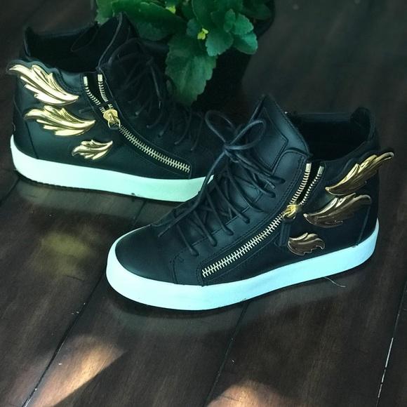 Giuseppe Zanotti Shoes - SOLD Giuseppe Zanotti gold wing sneakers